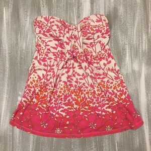 Floral Strapless Top